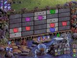 Logical Journey of the Zoombinis Windows 3.x Mudball Wall; you have to hit the right parts of the wall by choosing the colour and the symbol of the mudball