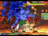 Street Fighter Alpha 2 PlayStation Sodom shows a lot of his strength to Zangief through his Super Combo Ten Chuu Satsu.