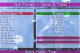 David Beckham Soccer Game Boy Advance Selecting teams.