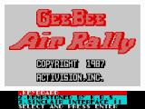 Gee Bee Air Rally ZX Spectrum Title screen