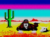 Gee Bee Air Rally ZX Spectrum Landed somewhere in the dry desert