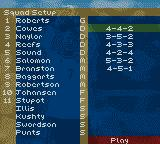 David Beckham Soccer Game Boy Color Your squad.