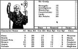 Tales of the Unknown: Volume I - The Bard's Tale Macintosh Stats