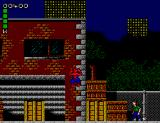 Spider-Man: Return of the Sinister Six SEGA Master System Here's Spidey climbing a wall.