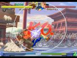 Street Fighter Alpha 2 PlayStation Knockout: Birdie wins the battle against Chun-Li counterattacking her with his Bull Head move!