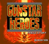 Gunstar Heroes Game Gear Title screen.
