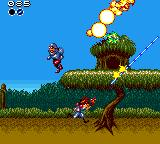 Gunstar Heroes Game Gear One of the tree selectable stages of the game.