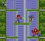 "Gunstar Heroes Game Gear First encounter with the ""bad guy""."