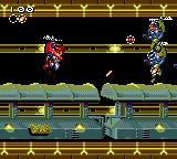 Gunstar Heroes Game Gear In this stage you'll be flying this helicopter thing.