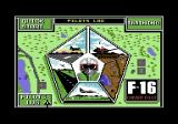 F-16 Combat Pilot Commodore 64 Main menu