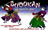 Budokan: The Martial Spirit DOS Title Screen (EGA)