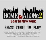 Home Alone 2: Lost in New York SNES Title screen.