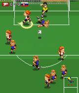 Playman World Soccer J2ME It is getting crowded in front of the goal.