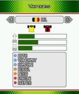 Playman World Soccer J2ME Team selection screen