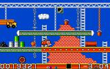 CarVup Amiga Building world - main task is to drive over all girders to colour them
