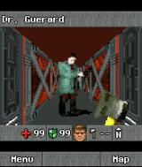 DOOM RPG J2ME This is not a friendly doctor.