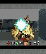 DOOM RPG J2ME The fire extinguisher clears the path.