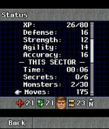 DOOM RPG J2ME Personal and sector statistics