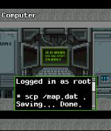 DOOM RPG J2ME Using a computer terminal.