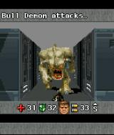 DOOM RPG J2ME The Bull Demon charges.
