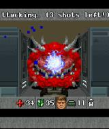 DOOM RPG J2ME Fighting a Cacodemon with the plasma gun.