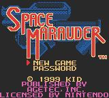 Space Marauder Game Boy Color American title screen