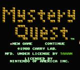 Mystery Quest NES Title screen