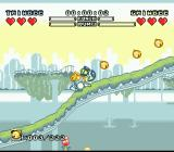 Pop'n TwinBee Rainbow Bell Adventures SNES Going up the slope