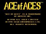 Ace of Aces SEGA Master System Title screen #1