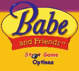 Babe and Friends Game Boy Color Title screen / Main menu.