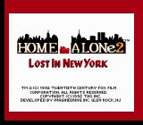 Home Alone 2: Lost in New York NES Title Screen 2.