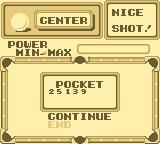 Side Pocket Game Boy The results at the ending of a 9-Ball game.