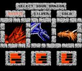 DragonStrike NES Selecting a dragon
