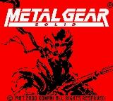 Metal Gear Solid Game Boy Color Title Screen