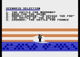 Crusade in Europe Atari 8-bit Scenario selection