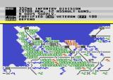 Crusade in Europe Atari 8-bit The gameplay screen