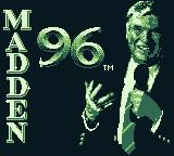 Madden 96 Game Boy Title screen