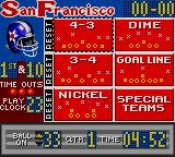Madden 96 Game Gear Select your play