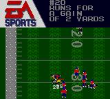 Madden 96 Game Gear The ball was run for a gain of 2 yards
