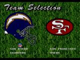 Madden NFL 96 Genesis Select your team