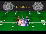 Madden NFL 96 Genesis The coin toss