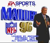 Madden NFL 96 SNES Title screen