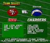Madden NFL 96 SNES Select your team