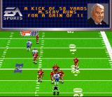 Madden NFL 96 SNES Kick was returned for 11 yards