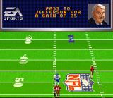 Madden NFL 96 SNES The pass is good for a 25 yard gain. First down.
