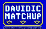 Davidic Matchup DOS Title screen