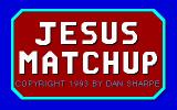 Jesus Matchup DOS Title screen
