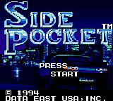 Side Pocket Game Gear Title Screen.