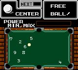 Side Pocket Game Gear Free ball means you can place the white ball at any place of the table.