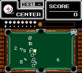Side Pocket Game Gear When you press button 2, the balls are converted to numbers in order to make your planning easier.